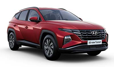 Hyundai Tucson - Available In Sunset Red